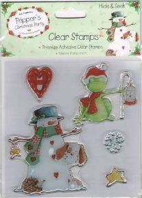 Pepper's Hide & Seek Clear Stamps